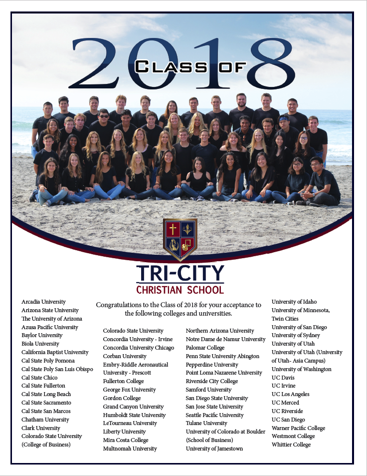 TCCS Class of 2018 College Acceptances